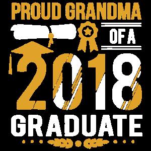 Stolze Großmutter eines Diplom-Hemdes 2018