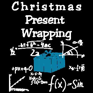 Lustiges Mathe - Weihnachtsgeschenk-Verpackungs-Hemd