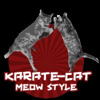 Karate Katze Meow Style! Kätzchen Mietze