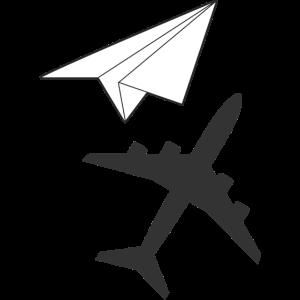 Papierflieger Schatten