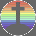 Jesus Kreuz Regenbogen