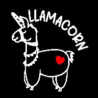 Schönes Lama Herz Liebe Alpaka Llamacorn Geschenk