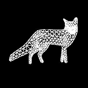 Low Poly Fuchs Rotfuchs wild tier shirt geschenk