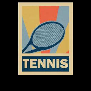 Tennis Schläger Sportler Retro Vintage Geschenk