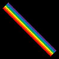 Pixel Lines Rainbow Retro ★ SpiritSpread