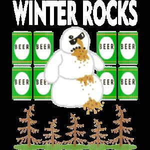 """WINTER ROCKS """"ugly Christmas"""""""