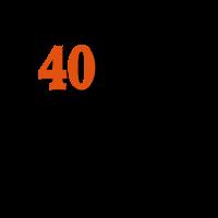 T-SHIRT HUMORISTIQUE pour anniversaire 40 ans.