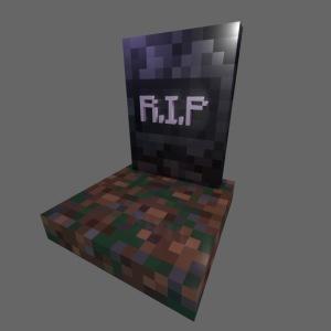 "mc ""rip"" gravestone"