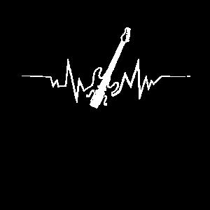 E-Gitarren-Herzschlag-cooles Geschenk für Gitarristen