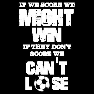 Fußballverteidiger, wenn wir ein Tor erzielen, können wir gewinnen, wenn sie es schaffen