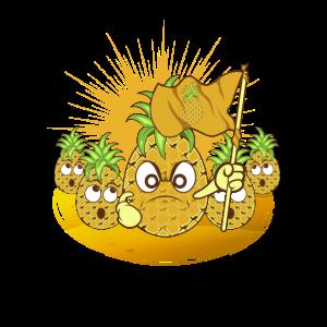 Ananas Proben den Aufstand