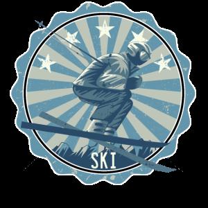 Ski Skifahrer Retro