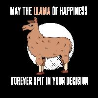 Lass das Lama des Glücks mit entscheiden