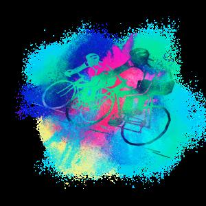 Radfahren Fahrrad farbenfroh