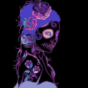 Tag der Toten Frau Tattoo