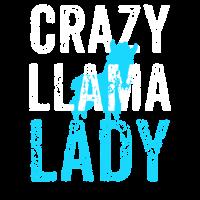 Verrückte Lama-Dame. Lustiges Lama-Geschenk, Mutter Lama
