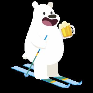 Bär Bier Süß Ski Winter Sport Geschenkidee