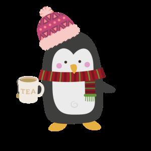 Pinguin Tee Süß Kalt Geschenkidee
