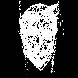 Skeletkopf Totenkopf Rapper