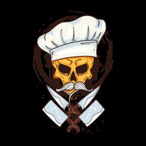 Chefkoch Totenkopf - Gekreuzte Messer