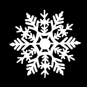 Weiße Schneeflocke zu Weihnachten