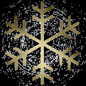 goldene Schneeflocke