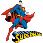 Superman Move Pose Colored