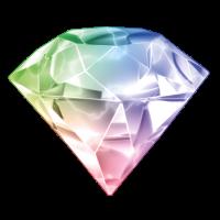 Diamant - farbenfroh - schlicht