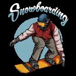 Trendy Modern Snowboarder | Snowboarding Geschenk