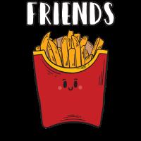 Beste Freunde Friends Pommes Frittes Geschenk