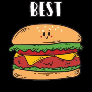 Beste Freunde Best Burger Hamburger Geschenk