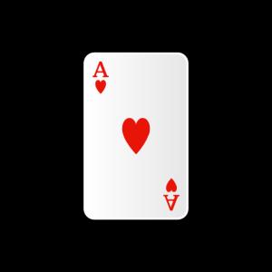 Herz Ass Spielkarte