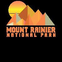 Weinlese-Berg Rainier Retro Nationalpark