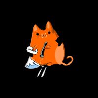 Kokain süchtige Katze
