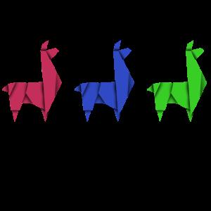 Lama Alpacca Origami Bastel Design Tier Kreativ