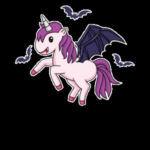 Süßes Fliegendes Einhorn Halloween Horror Geschenk