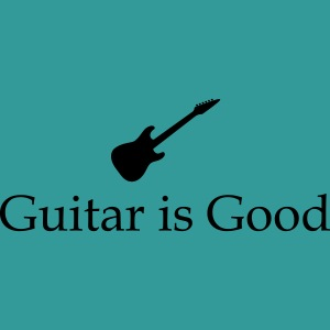 Guitar is Good Logo With Text