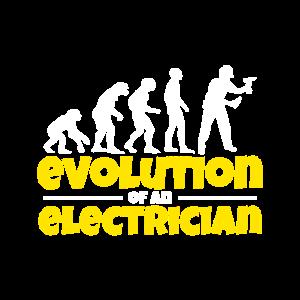 Elektriker Darwin Evolution Techniker Geschenk