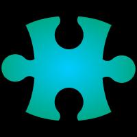 Puzzleteil blaugrün