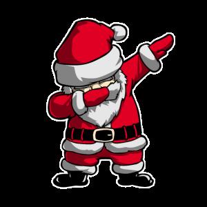 Dabbender Weihnachtsmann Dabbing Santa Geschenk