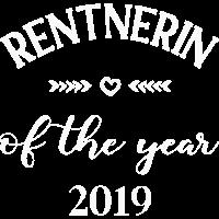 Rentnerin of the year 2019 Geschenk Kollegin Arbei