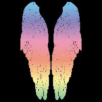 Lange Regenbogenflügel