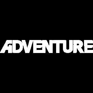 Adventure Schriftzug weiss