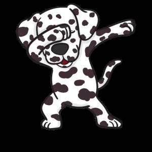 Dalmatiner Welpe Hund Dabbing Dabbin Tanz Geschenk