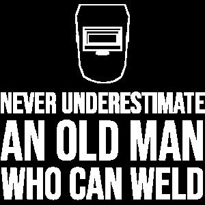 Ein alter Mann-Schweißer-Großvater-Großvater-T-Shirt