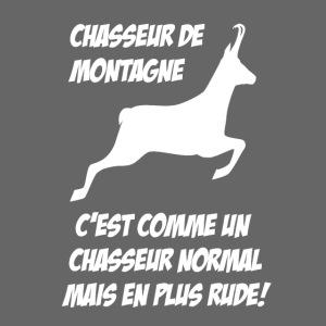 Chasseur de montagne (motif chamois)