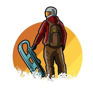 Schlitten fahren Winter Rodeln Schnee Geschenk
