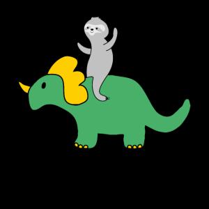 faultier dinosaurier disco