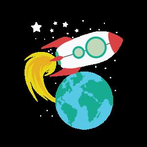Rakete Weltraum Space Erde