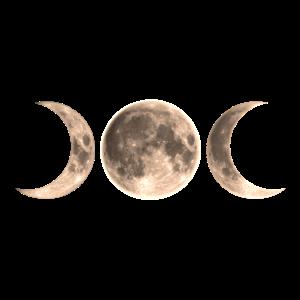 Wicca Mond - triple moon - Goddess symbol
